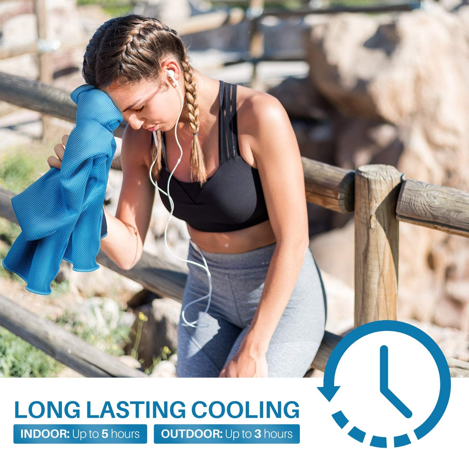 Liberlupus Cooling /& Drying Towel Set Instant Cooling Towel Lasting for Up to 5 Hours Ideal for Gym Super Soft Breathable Absorbent Camping Travel Yoga Quick Dry Microfiber Towel Outdoors