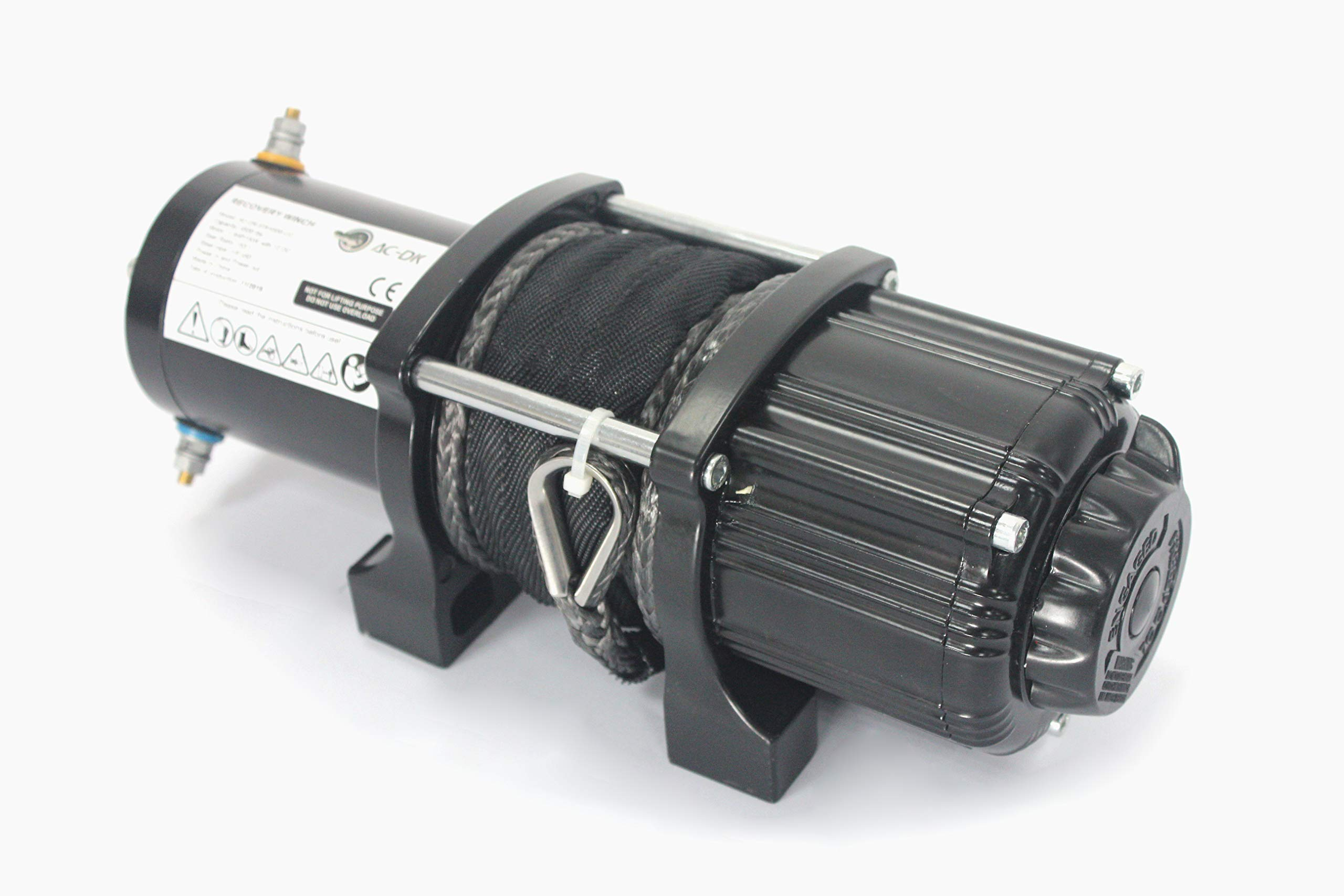 AC-DK 12V 4500lb ATV Winch UTV Winch Electric Winch Set for 4x4 Off Road (4500lb Winch with Synthetic Rope) by AC-DK (Image #5)