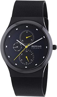 BERING Time 32139-228 Men Ceramic Collection Watch with Stainless-Steel Strap and Scratch