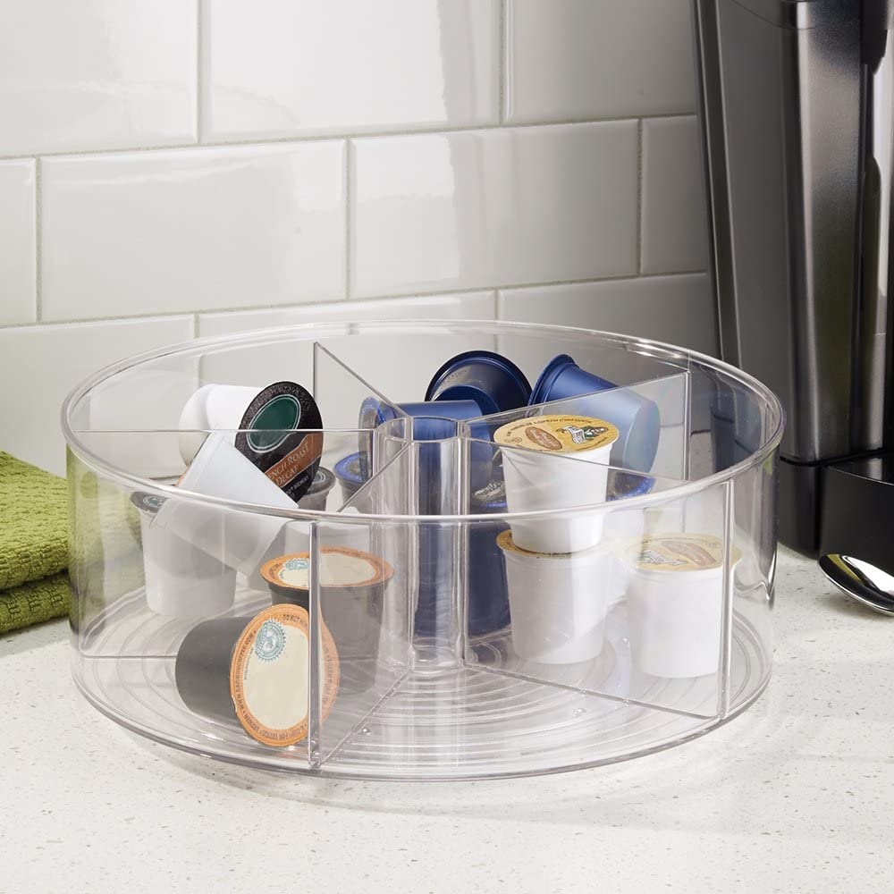 Amazon Com Interdesign Linus Turntable Divided Home Kitchen