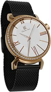 Christian Geen Analog Watch For Men - Stainless Steel , Black - 4837Glrr-Wh
