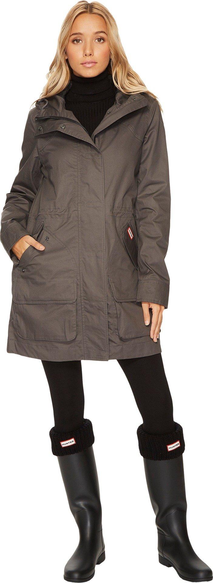 Hunter Women's Original Cotton Hunting Coat Dark Slate Outerwear