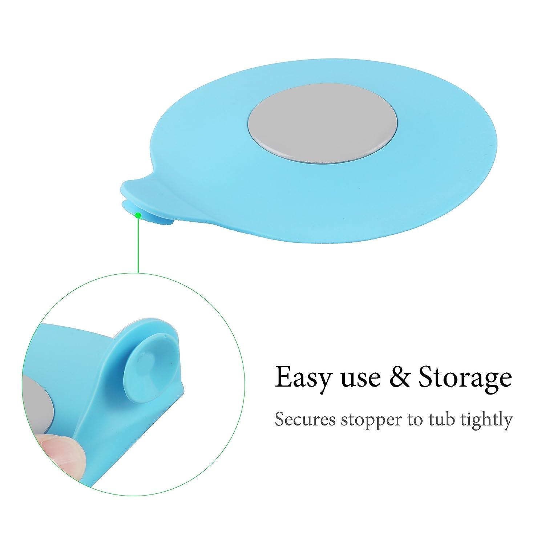 Bathtub Drain Stopper Silicone Bath Tub Drain Stopper Plug Cover ...