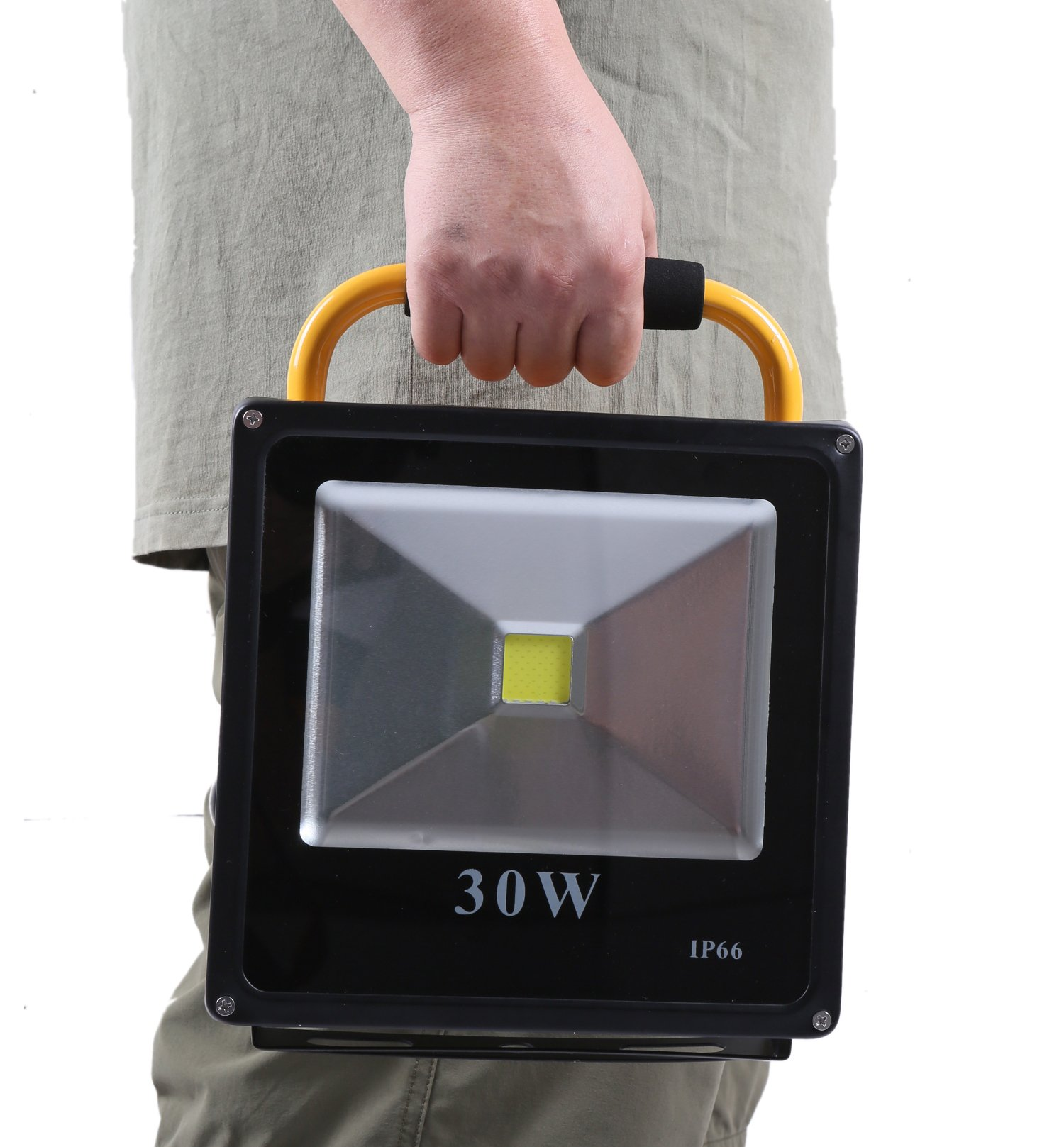 Starsea Portable Work Lights 30W, Rechargeable Led Flood Light with 18650 Lithium Batteries IP66 Waterproof, Rechargeable Led Spotlight, Work Light, Adapter Included by Starsea Shop (Image #1)