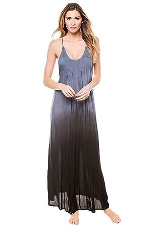 20962b210cc Boho Me Women s Wovens Maxi Dress Swim Cover Up - Blue -  Boho Me ...