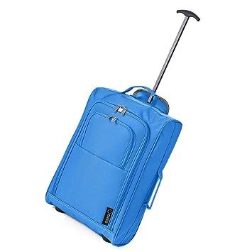 5 Cities 50 cm 55 cm cabina Equipaje de mano Trolley Bolsa de equipaje de mano para Easyjet y Ryanair azul azul real 55 cm: Amazon.es: Equipaje