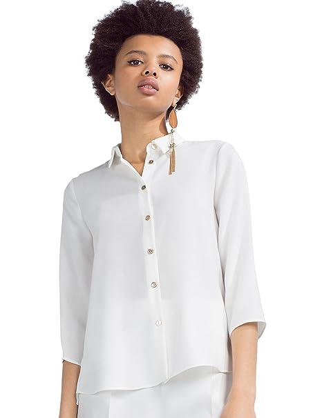 Zara Camisa botón dorado, talla XS