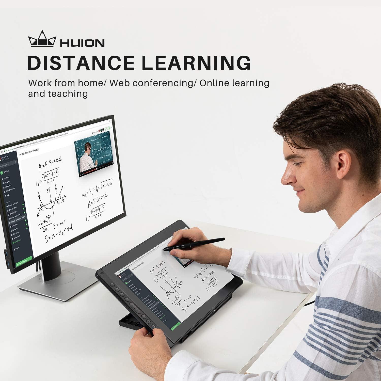 HUION Kamvas 16 2021 Grafikmonitor 15.6 Zoll 1920 X 1080 HD IPS Android-Unterst/ützung mit voll laminiertem Bildschirm mit St/änder f/ür Remote Arbeiten oder Lernen Schwarze