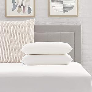 Comfort Revolution Standard Memory Foam Twin Pack Pillow, White