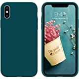 iPhone Xs Max Case, DUEDUE Liquid Silicone Soft Gel Rubber Slim Cover with Microfiber Cloth Lining Cushion Shockproof Full Bo