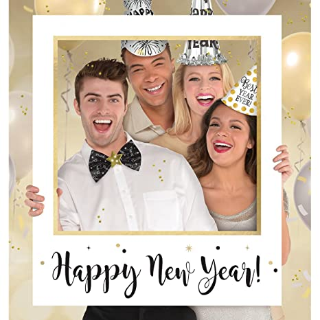 Amazon Giant Happy New Year Photo Frame Photo Prop Toys Games