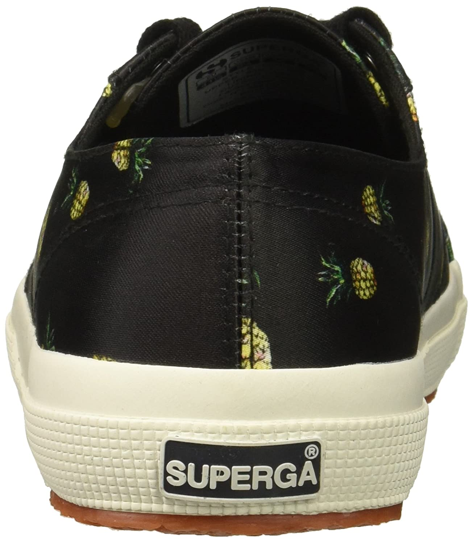 Superga Women's 2750 Satinfantw Sneaker B078K83D7D 40 M US|Black/Multi