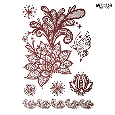 "Tatouage Temporaire ArtWear Tattoo ""Brown Beauty Tattoo Henné Style 1"""