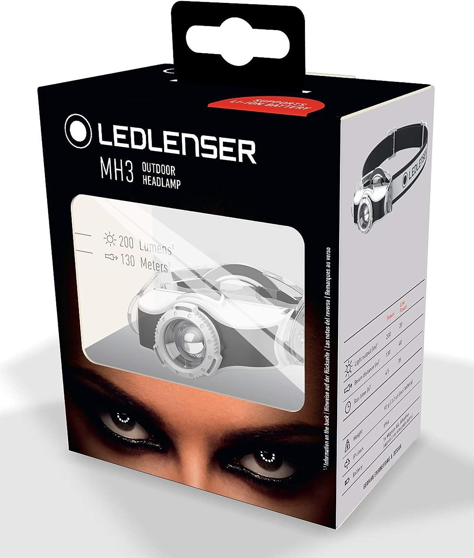 gr/ün batteriebetrieben Ledlenser Stirnlampe MH3 bis zu 35 Stunden Laufzeit LED Outdoor-Kopflampe mit innovativem Mounting System 200 Lumen