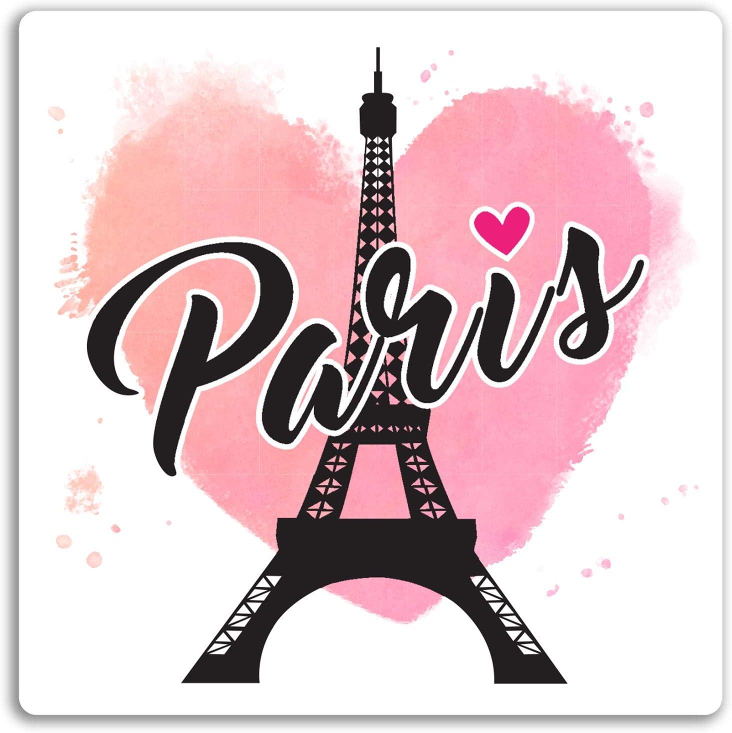 2 x 10 cm París Francia pegatinas de vinilo - amor del corazón ...