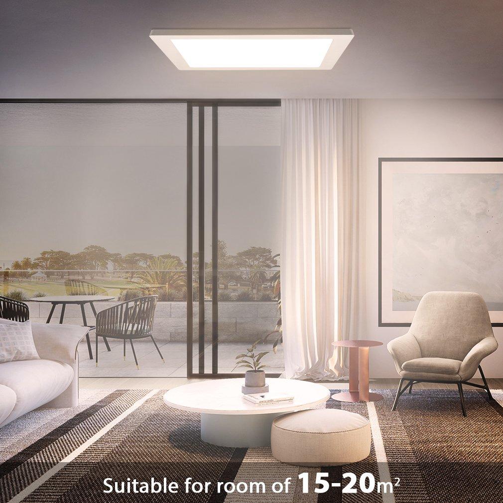 lampada da soffitto a LED Ultraslim 20mm 18W 1550Lm Lampada da soffitto per bagno balcone cucina seminterrato corridoio Oeegoo Lampada Plafoniere con sensore di movimento