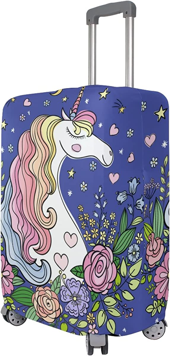 Elastic Travel Luggage Cover Born To Dream Unicorn Suitcase Protector for 18-20 Inch Luggage