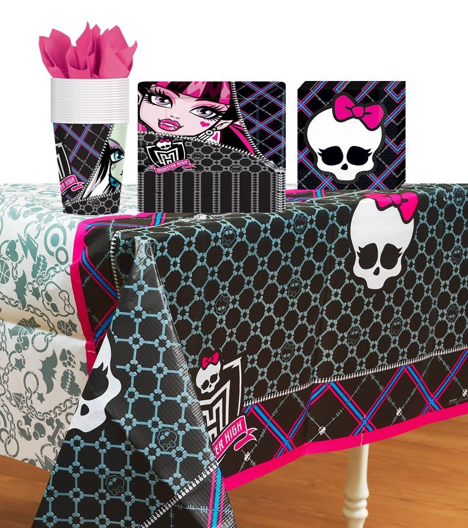 Amazon.com Amscan Monster High Party Supplies Pack Including Plates Cups Napkins and Tablecover- 16 Guests Toys u0026 Games  sc 1 st  Amazon.com & Amazon.com: Amscan Monster High Party Supplies Pack Including Plates ...