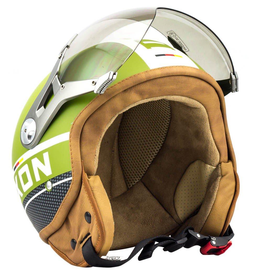 SOXON SP-325-PLUS Titanium Ace · Vespa Cruiser Piloto Scooter Moto motocicleta Urbano Urban Vintage Helmet Mofa Biker Bobber Retro Chopper Casco Demi-Jet · ECE certificado · incluyendo parasol · incluyendo bolsa de casco &middot