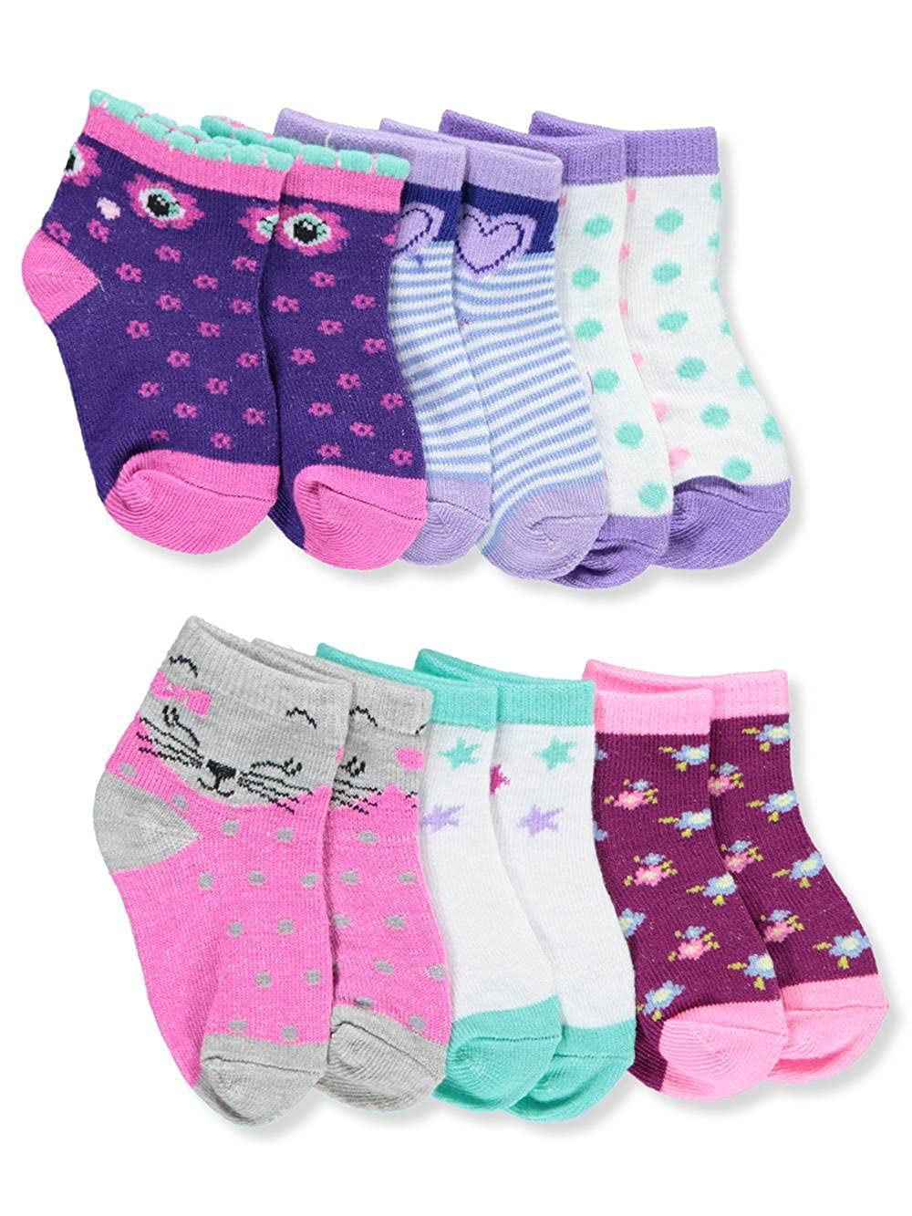 Zac & Zoey Baby Girls\' 6-Pack Ankle Socks