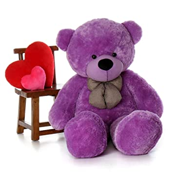 CLICK4DEAL RT Soft Toys Lovable Hugable Cute Admirable Teddy Bear- 6-feet (Purple)