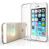 Yousave Accessories iPhone 5S / 5 Custodia Protettiva Trasparente Ultrasottile Di Gel In Silicone TPU 0,5 Mm [Misure Perfette]