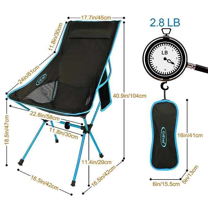 Amazon.com: G4Free - Sillas de acampada plegables y ...