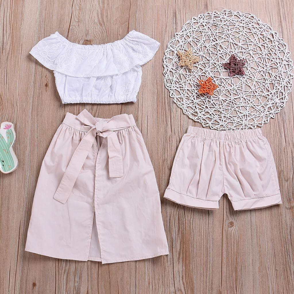 Shorts Skirts Sagton Summer Baby Girls Off Shoulder Ruffled Crop Top