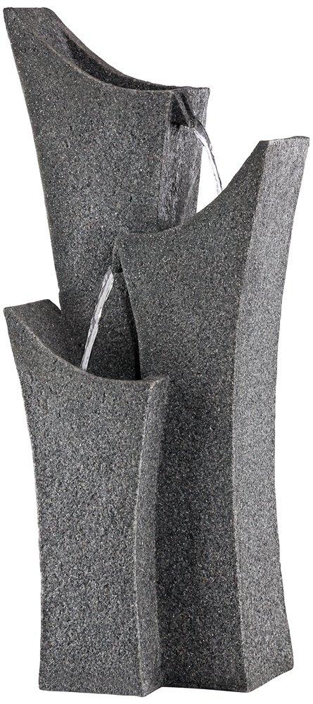 Exton 31'' High Gray Stone Indoor/Outdoor Three Tier Fountain