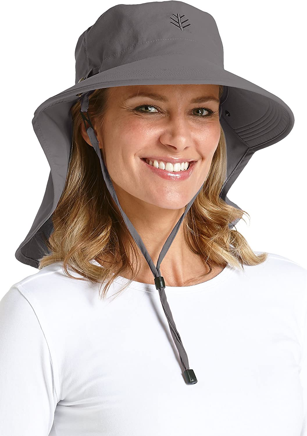 Coolibar UPF 50+ Unisex Ultra Sun Hat - Sun Protective (One Size- Carbon)  at Amazon Women s Clothing store  1490ae793ea