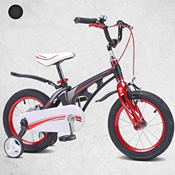 Bicicletas HAIZHEN Cochecito niños, con Ruedas de Entrenamiento para niños Jóvenes de 2 a 10 años Ruedas de 12-14-16 Pulgadas, 3 Colores Disponibles para ...