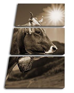 deyoli Puede Alpen Vaca Efecto: Sepia como Lienzo, diseño ...