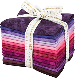 Lunn Studios Artisan Batiks Prisma Dyes Plum Perfect 15 Fat Quarter Bundle Robert Kaufman Fabrics FQ-830-15