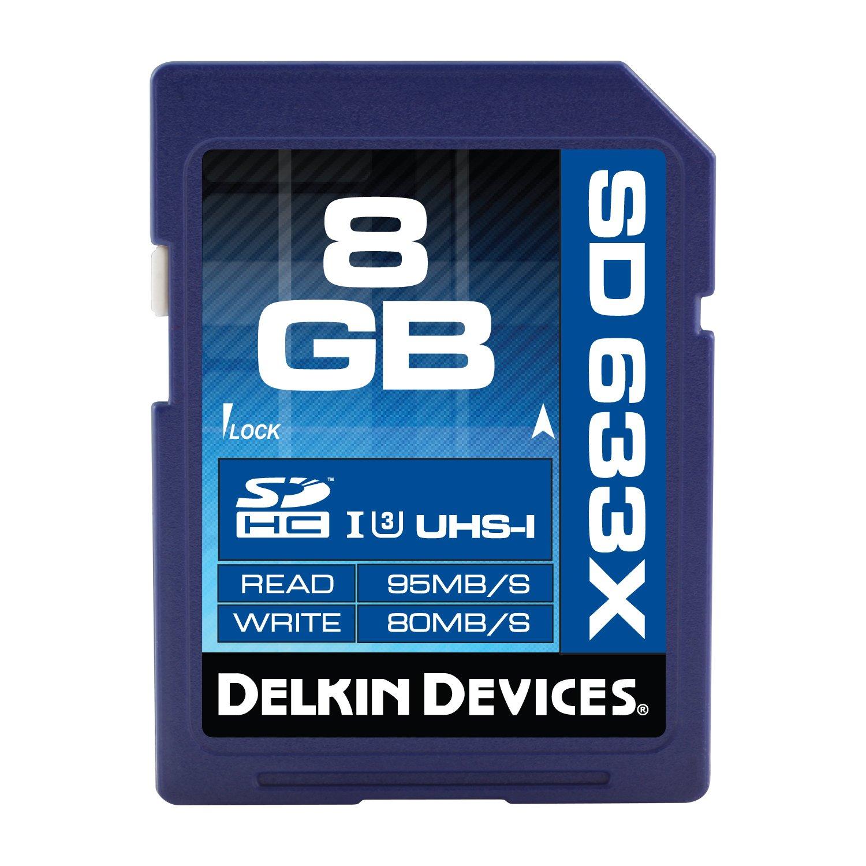 Delkin 256GB SDXC 633X UHS-I (U3) Memory Card(DDSD633256GB-A)