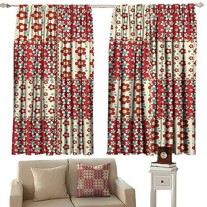 Amazon.com: Decor Curtains Cabin Decor Traditional Quilt ...