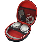 Headphones Carrying Case for Bose QuietComfort 35, QC35, QC25, QC15, AE2, SoundLink, SoundTrue/Protective Hard Shell Travel Bag with Storage Space for Cable and Accessories (Black/Red)