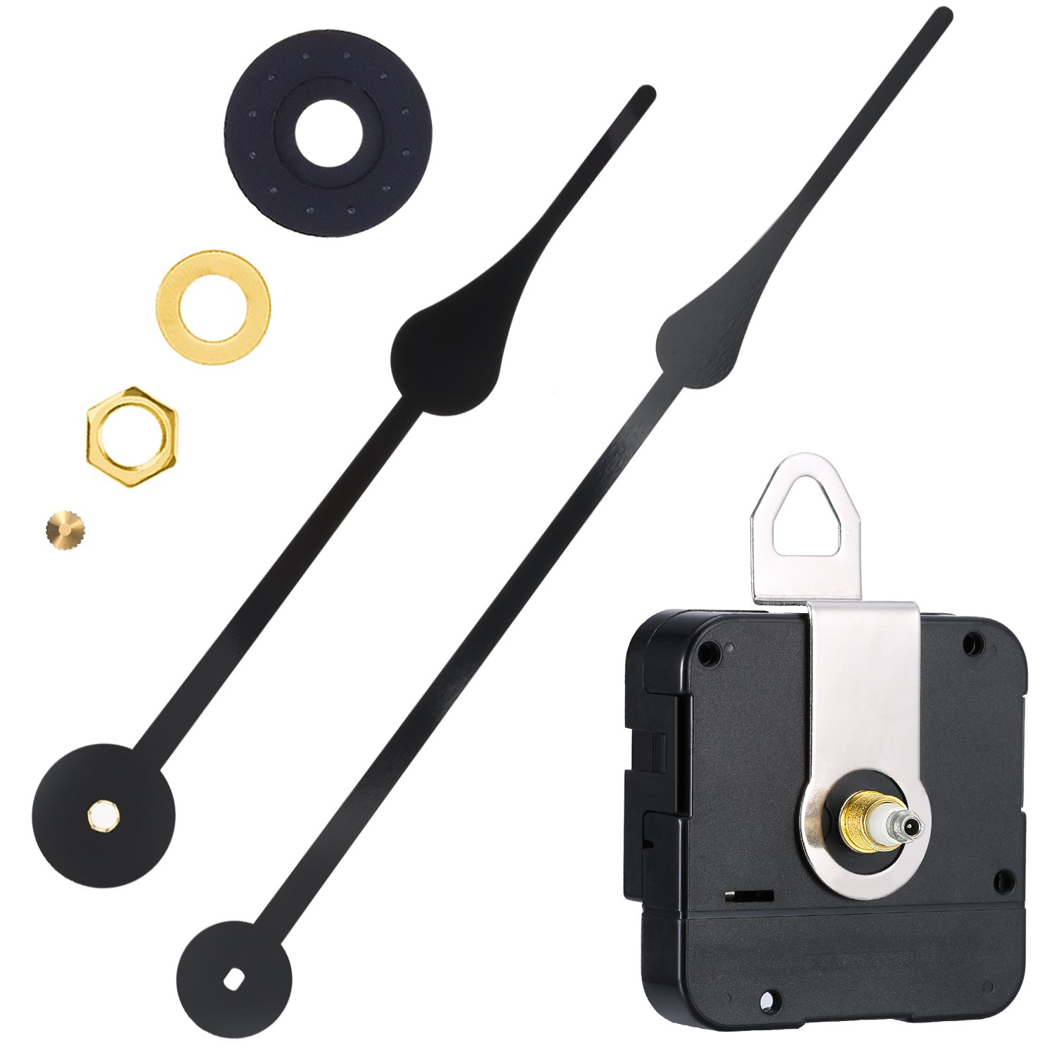 WILLBOND High Torque Clock Movement Replacement Mechanism with Clock Hands to Fit Dials Up to 56 cm 22 Inches in Diameter