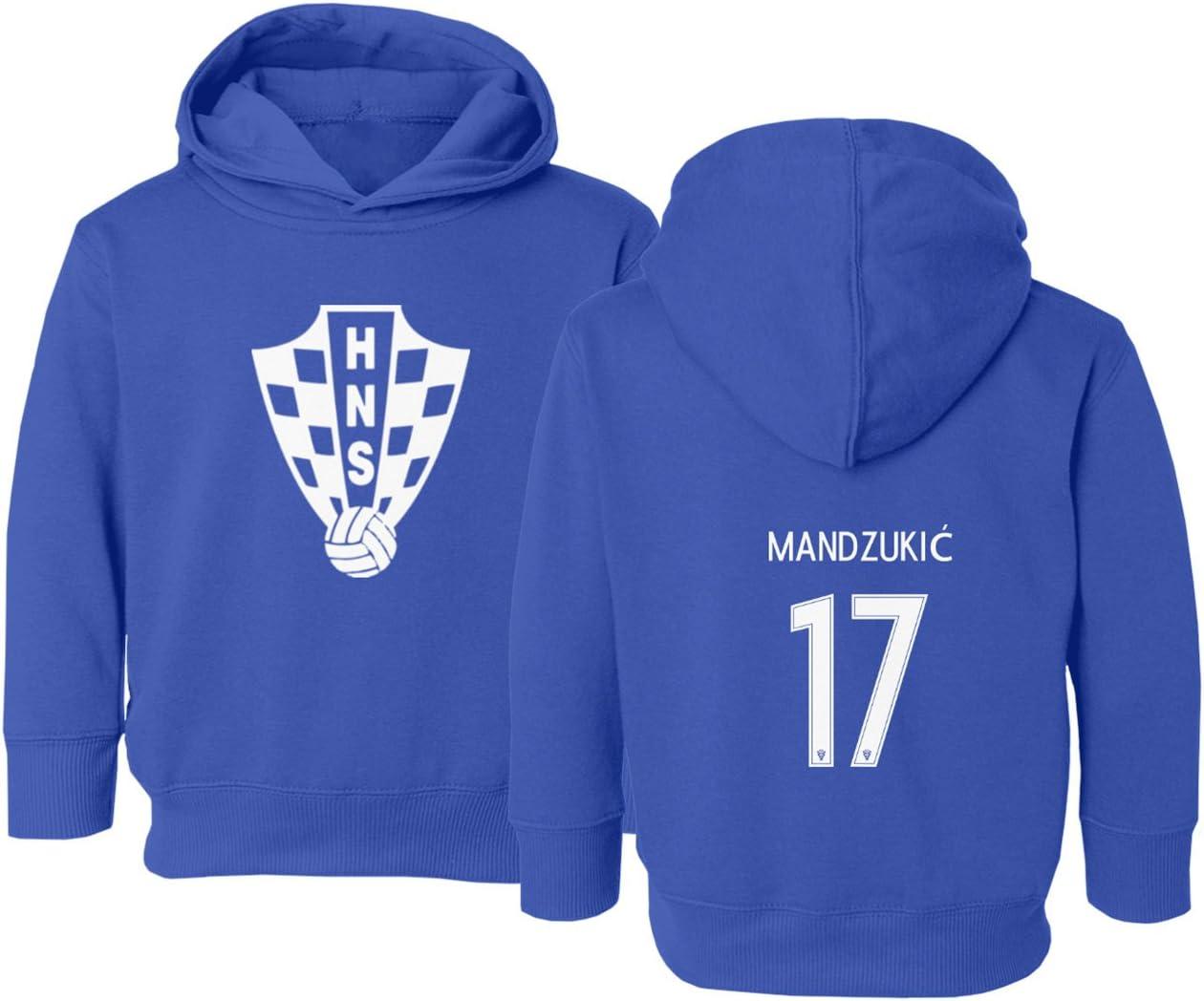 Tcamp Croatia 2018 National Soccer #17 Mario MANDZUKIC World Championship Little Kids Girls Boys Toddler Hooded Sweatshirt