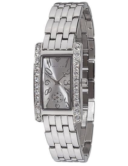 Yves Camani de mujer reloj de pulsera Amance II con caja de acero inoxidable y esfera