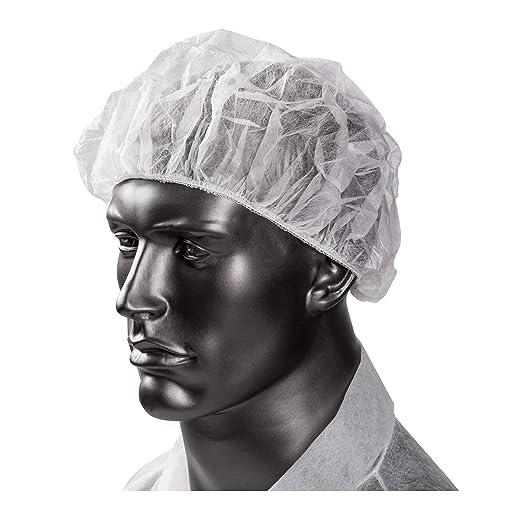Paquete de 100 gorras de pelo desechables no tejidas de 21 ...