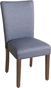 HomePop Parsons Classic Upholstered Accent Dining Chair, Single Pack, Blue