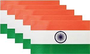 HSQCEZ 5 Pcs India Flag Vinyl Decal , Tactical Indian Flag Decal Sticker, Indian Stickers for Vehicles Car Window Bumper 2.5 x 4.5 Inch