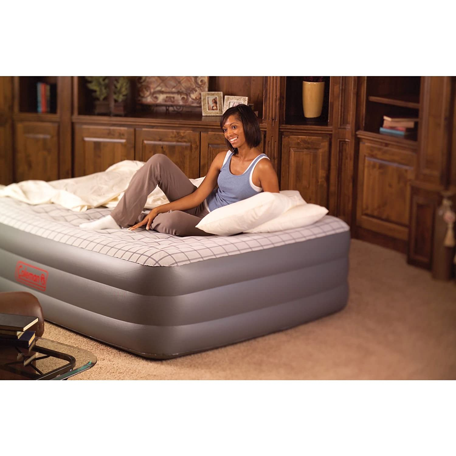 Amazon.com : Coleman Premium Double High SupportRest Airbed w/Built in Pump,  Queen : Camping Air Mattresses : Sports & Outdoors