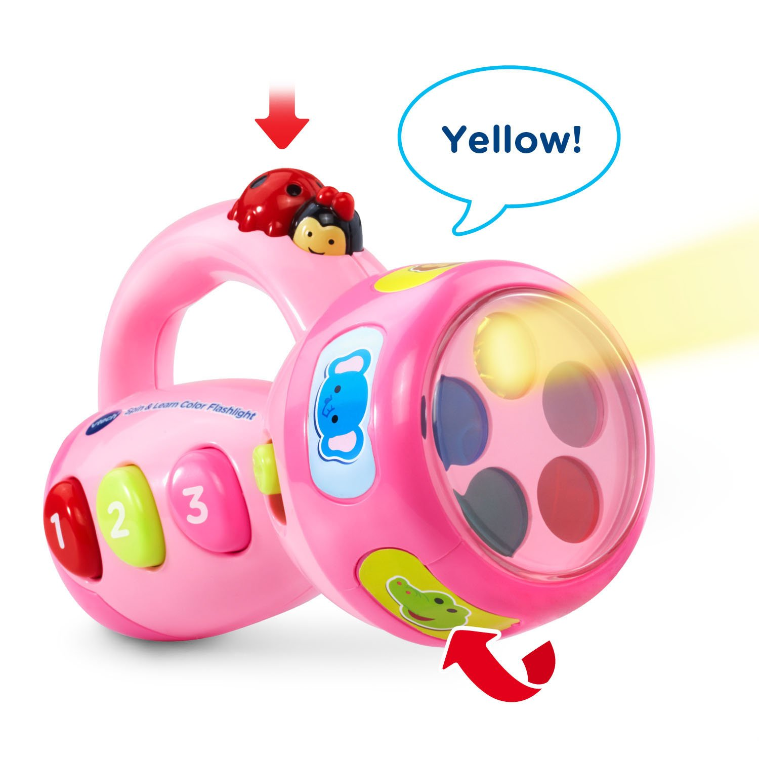 VTech Spin and Learn Color Flashlight Amazon Exclusive, Pink by VTech (Image #2)