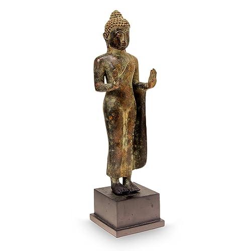 NOVICA Abhaya Mudra Buddha Bronze Statuette