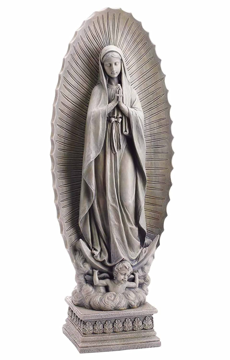 Our Lady of Guadalupe Resin Home Patio and Garden Statue, 37 1/2 Inch