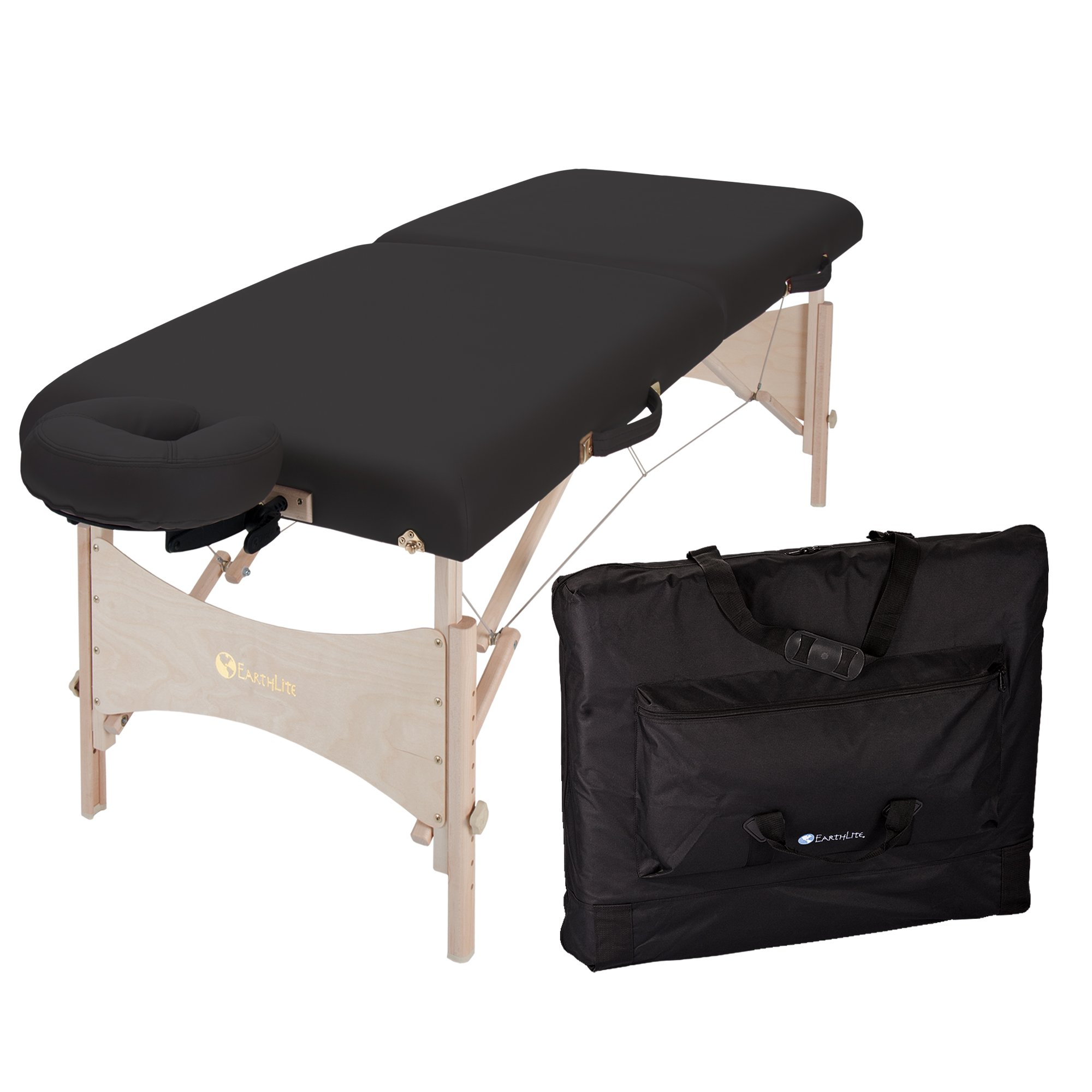 EARTHLITE Harmony DX Portable Massage Table Package – Eco-Friendly Design, Deluxe Adjustable Headrest, Hard Maple, Aircraft Quality, up to 600 lbs by Earthlite (Image #4)