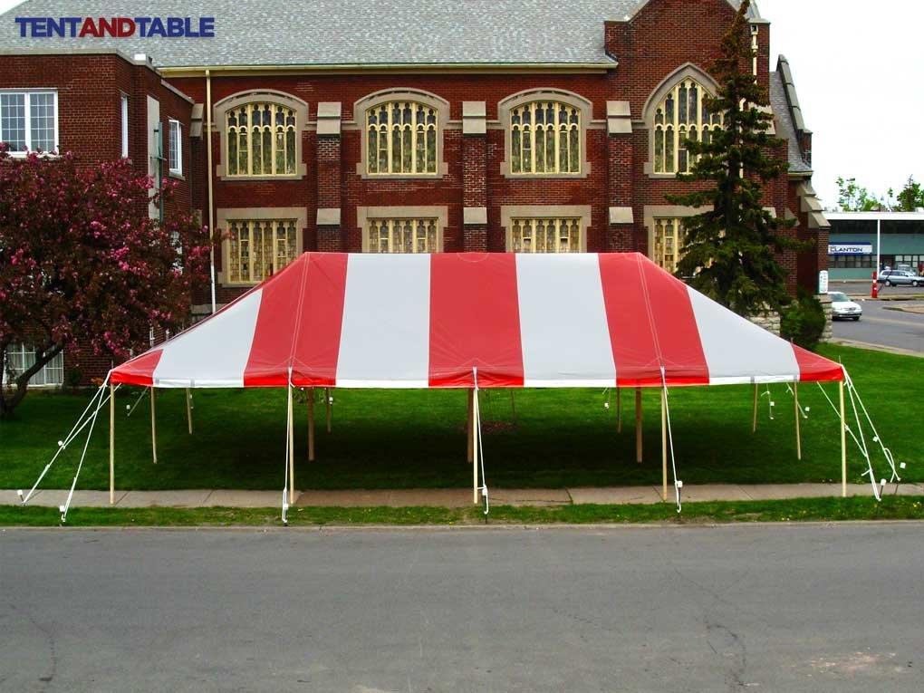 20フィートby 40-footレッドとホワイトポールテント、の商業キャノピー頑丈473mlビニールパーティや結婚式、、、イベント B00803NALU