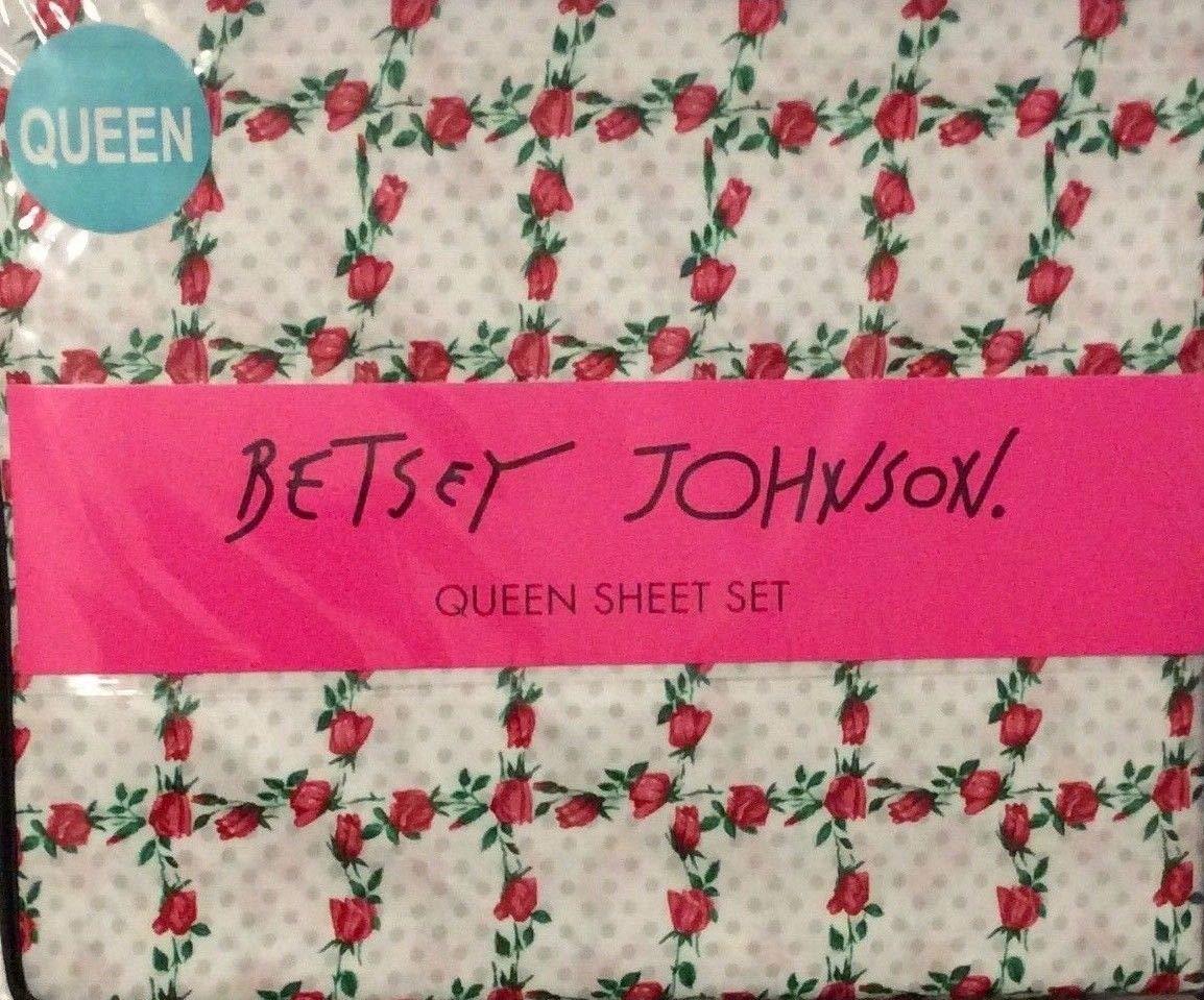 ベッツィジョンソン 4点 クイーンシーツセット ピクニック ローズドット B07S41W2CN