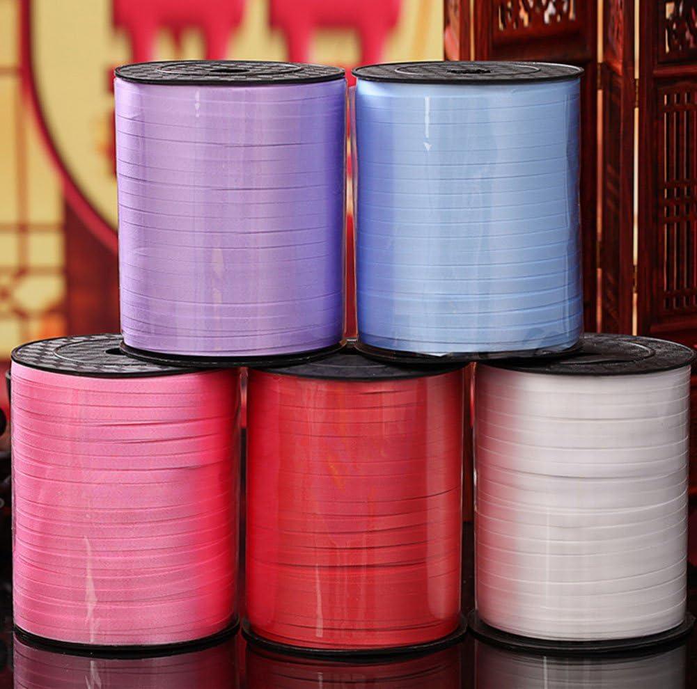 pour les fleuristes Bolduc de 220/cm de long sur 5 mm de large pour accrocher les ballons pendant une f/ête ou un festival iTemer 220CM*0.5CM violet pour les cadeaux et les travaux manuels